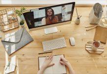 réunions virtuelles et télétravail